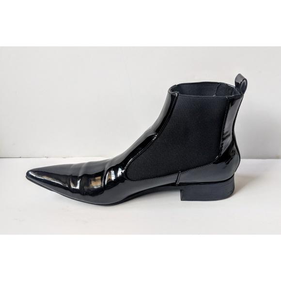Zara Trafaluc Black Patent Pointed Toe